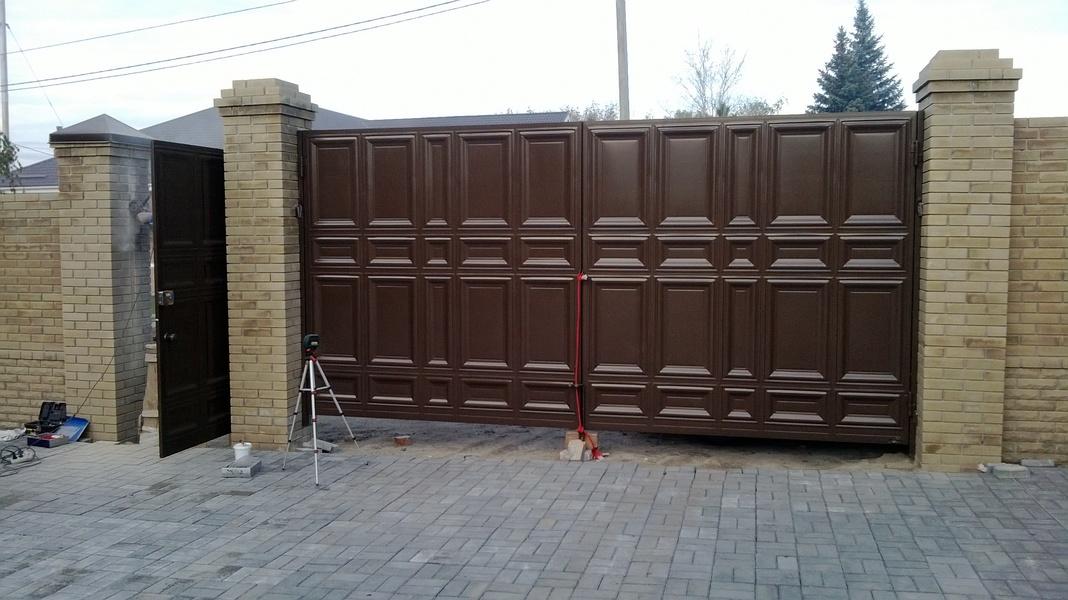 Филёнчатые ворота для Вашего двора!